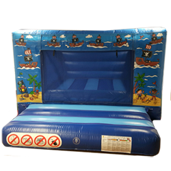 A delightful Pirate themed bouncy castle