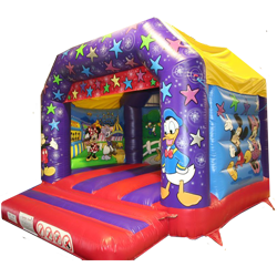 A delightful Mickey & friends themed bouncy castle